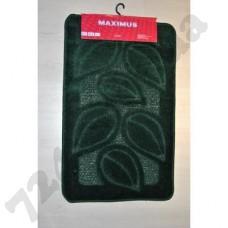 Набор ковриков в ванную MAXIMUS  50x80 + 40x50 FLORA HUNTER GREEN