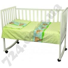 Детское постельное белье Руно Ежик салатовый
