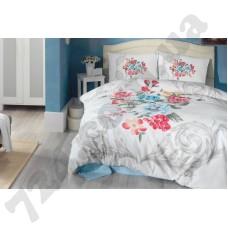 Постельное белье Cotton Box Floral Vanessa mavi 3d