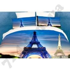 Постельное белье Love you Париж