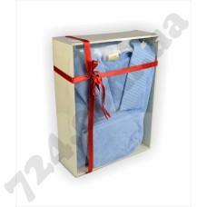 Халат LMN Cotton blue + косметичка