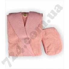 Халат LMN Cotton pink + косметичка