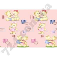 Детское постельное белье Вилюта Тедди розовый