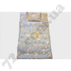 Детское постельное белье Bilana Мишка на месяце на голубом