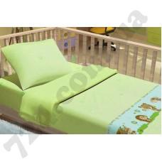 Детское постельное белье KidsDreams Лесные зверюшки зелёный