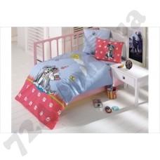 Детское постельное белье Kristal Pati blue + Одеяло + Бортик + Защита одеяла
