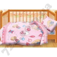 Детское постельное белье Кошки-Мышки Веселые друзья розовый
