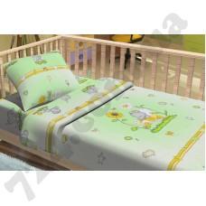 Детское постельное белье KidsDreams Слоники зелёный