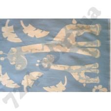 Детское одеяло WOT Giraffe light blue