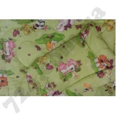 Детское одеяло Міцний сон Звери салатовый + Подушка