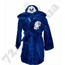 Детский халат Nusa Песик синий