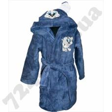 Детский халат Nusa Песик серо-синий