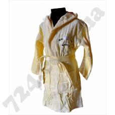 Детский халат Nusa Принцеса желтый