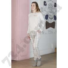 Домашняя одежда 19006 bej melanj
