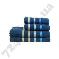 полотенце махр Vega 50*90 синий 400г/м2
