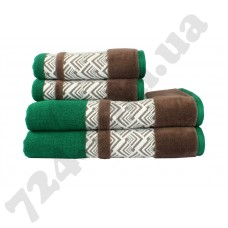 полотенце NAZENDE 50*90 зеленый/коричневый 560г/м2