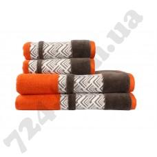 полотенце NAZENDE 50*90 оранжевый/коричневый 560г/м2
