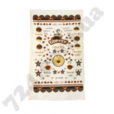 полотенце махр Кофе тайм 30*50 коричневый 350г/м2