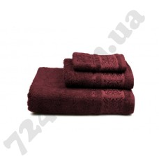 Полотенце махровое Bamboo new (бордовое), 30х50см