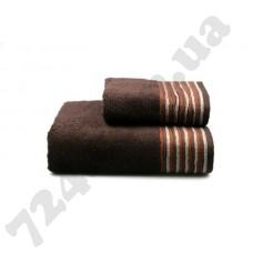 Полотенце махровое Eirene (т.коричневое), 70х140см