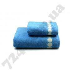 Полотенце махровое Balls (голубое), 50х90см