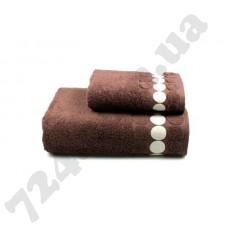 Полотенце махровое Balls (коричневое), 50х90см