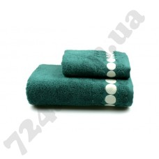 Полотенце махровое Balls (т.зеленое), 70х140см