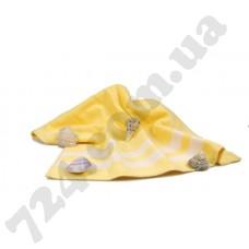 """Полотенце пляжное велюровое """"Homeline"""" (желтое), 70х150см"""
