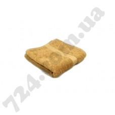 """Полотенце махровое гладкокрашеное с бордюром """"Homeline"""", 40х70см, 350г/м2 (кофейное)"""