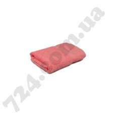 "Полотенце махровое гладкокрашеное с бордюром ""Homeline"", 50х90см, 350г/м2 (розовое)"
