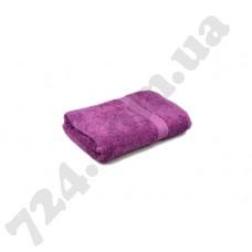 """Полотенце махровое гладкокрашеное с бордюром """"Homeline"""", 50х90см, 350г/м2 (лиловое)"""