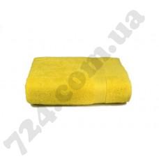 """Полотенце махровое гладкокрашеное с бордюром """"Homeline"""", 70х140см, 350г/м2 (желтое)"""