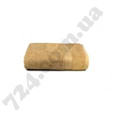 """Полотенце махровое гладкокрашеное с бордюром """"Homeline"""", 70х140см, 350г/м2 (кофейное)"""