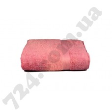 "Полотенце махровое гладкокрашеное с бордюром ""Homeline"", 70х140см, 350г/м2 (розовое)"