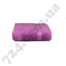 """Полотенце махровое гладкокрашеное с бордюром """"Homeline"""", 70х140см, 350г/м2 (лиловое)"""