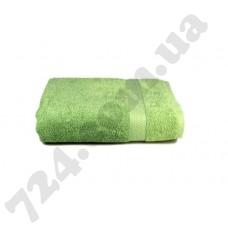 """Полотенце махровое гладкокрашеное с бордюром """"Homeline"""", 70х140см, 350г/м2 (оливковое)"""