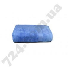 """Полотенце махровое гладкокрашеное с бордюром """"Homeline"""", 70х140см, 350г/м2 (голубое)"""