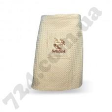Килт-юбка вафельная для сауны, бежевая, 270гр/м2, 55х160см