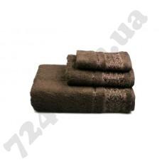 """Полотенце махровое """"Вамвоо"""", 50х90см, 500г/м2, (коричневое)"""