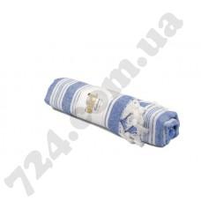 Полотенце хлопковое Полоска с кисточками, 95х170 (синее)