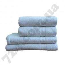 Полотенце махровое гладкокрашенное, 50х100см, 550г/м2 (белое)