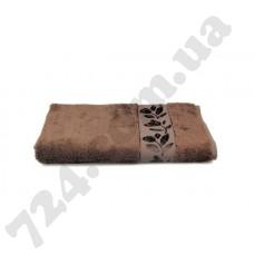 Полотенце махровое Себнем (т.коричневое), 50х90см