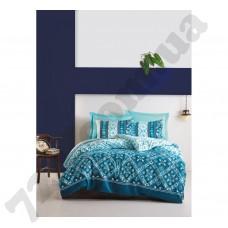 Комплект постельного белья Cotton Box Dante Petrol семейный