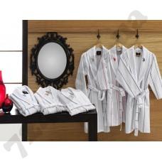 Домашняя одежда U.S.Polo Assn - Халат Casper XS/S Pembe бело-розовый