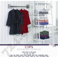 Домашняя одежда U.S. Polo Assn - USPA халат мужской махровый mor-lacivert фиолетово-синий S/M