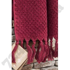 Полотенце махровое Buldans - Cakil Burgundy бордо 90*150