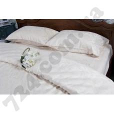Постельное белье Deco Bianca сатин жаккард jk17-03 ecru евро