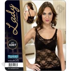 Домашняя одежда Lady Lingerie - 4307 L майка черный