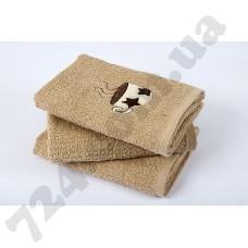 Полотенце кухонное Lotus вышивка - Cup Star бежевый 40*60