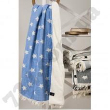 Плед микроплюш Barine - Star Throw blue 130*170
